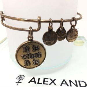 ALEX & ANI + Gift It Is What It Is Charm Bangle
